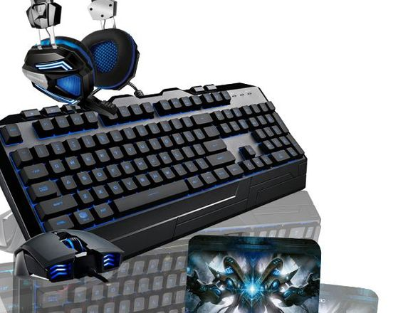 Kit Gamer N°11/Teclado-Mouse-Audifono Y Pad Mouse