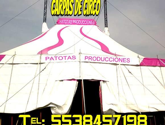 CARPA DE CIRCO RENTA MEXICO