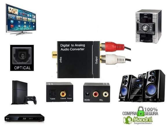 Convertidor De Audio Optico Digital A Audio Rca
