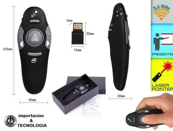 Presentador Diapositivas Usb Puntero Laser + Caja