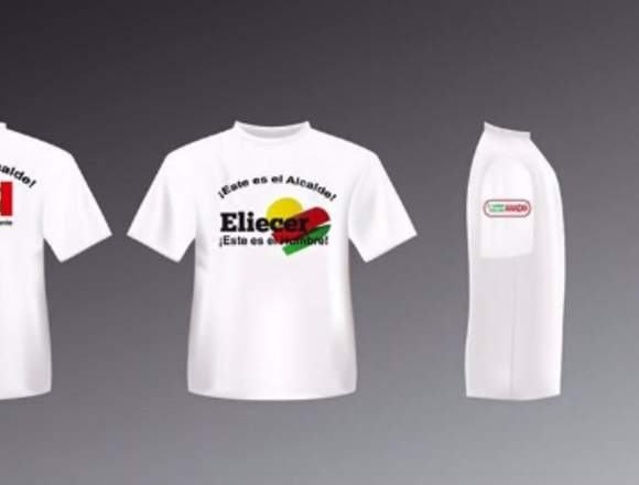 CAMISETAS PARA TEMPORADA ESCOLAR BLANCA Y DE COLOR