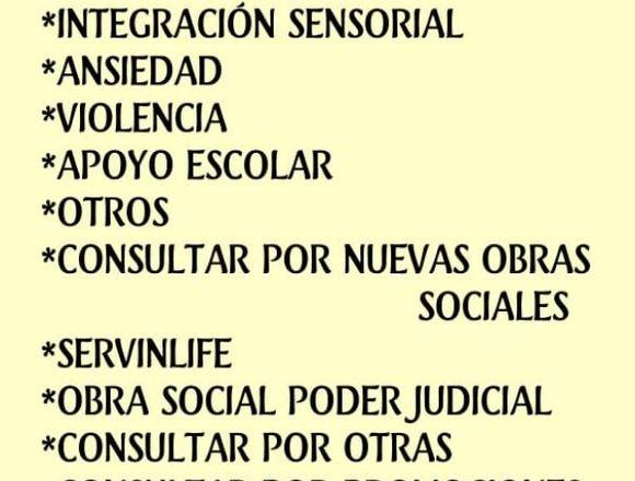 Psicología, Psicopedagogía y Mas Especialidades
