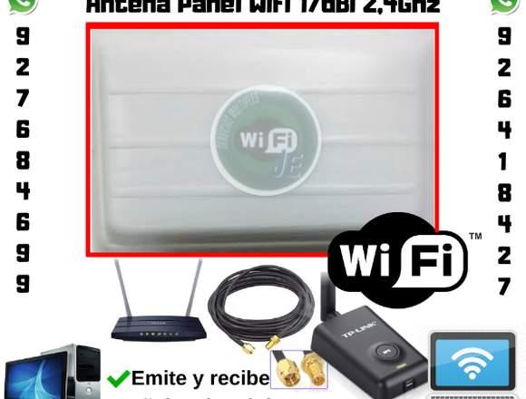antenas wifi panel 17dbi 2.4ghz