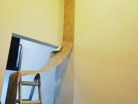 Instalación de papel pintado