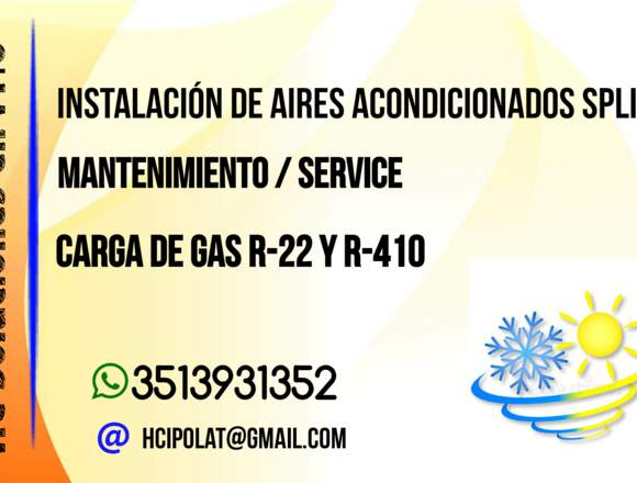 Instalación y mantenimiento de Aires Acond.
