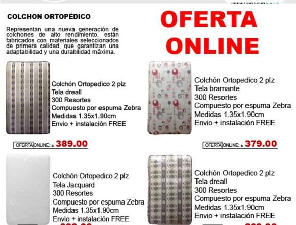 Colchon Ortopedico 2 Plasas Lujan De Lujo