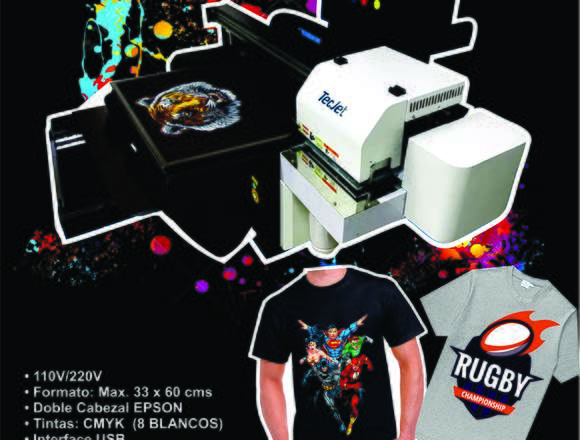A1 Impresora directa sobre camisetas