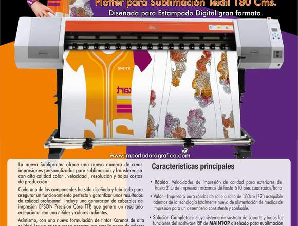 AA Plotter de sublimacion subliprinter