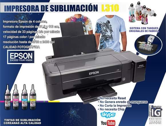AA Impresora epson L310 de sublimacion