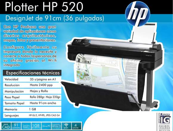 AA Plotter de interior hp 520