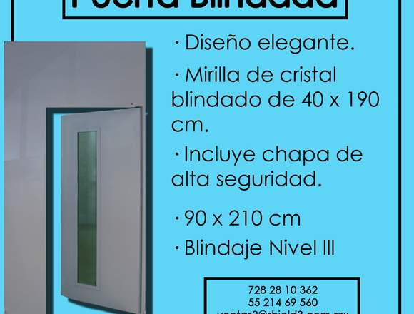 Puerta Blindada Con Regilla