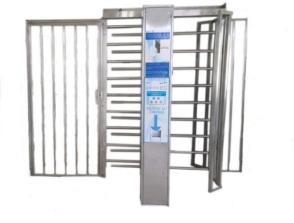 Puerta Giratoria con Sistema de Cobro.