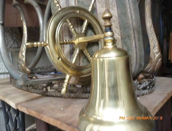 Venta de campanas de bronce con timón en Ecuador