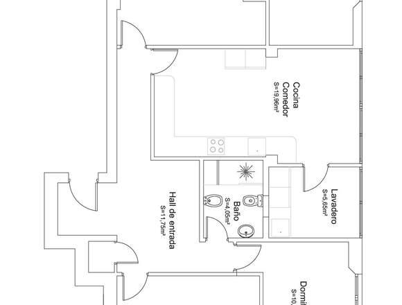 Piso 3 Dormitorios con  posibilidad de hacer 4 D