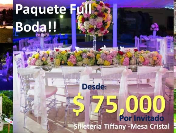Tu boda espectacular por tan solo $ 75.000 X invta