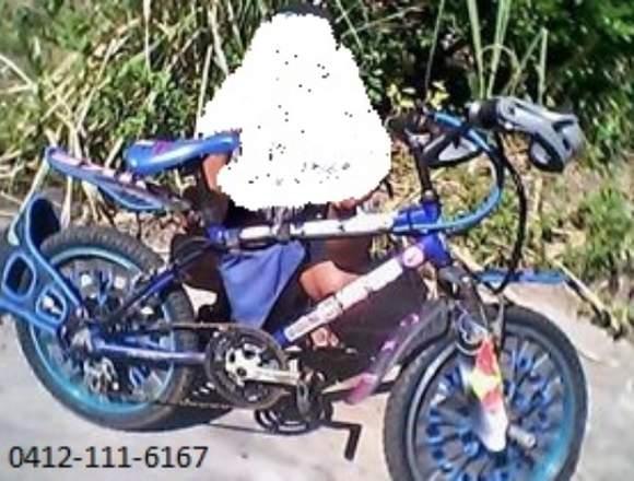 Bicicleta rind 20 azul en 50$
