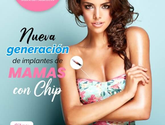 Innovadoras prótesis mamarias con chip.