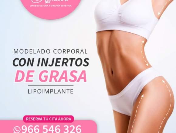Modelado corporal con Lipoimplante