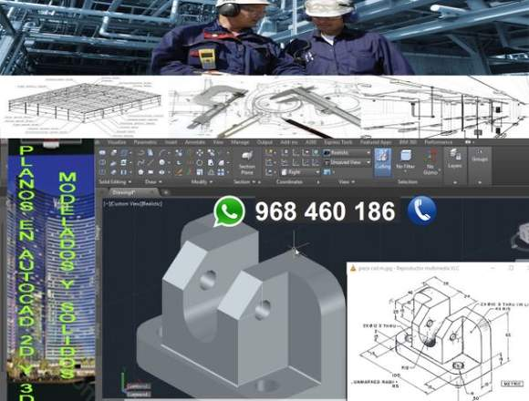 Planos En Autocad 2d Y 3d Casa Industria Mecánica