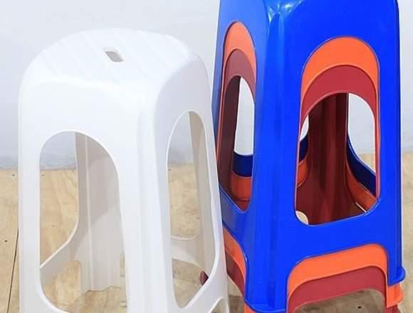 bancos de plastico para barra