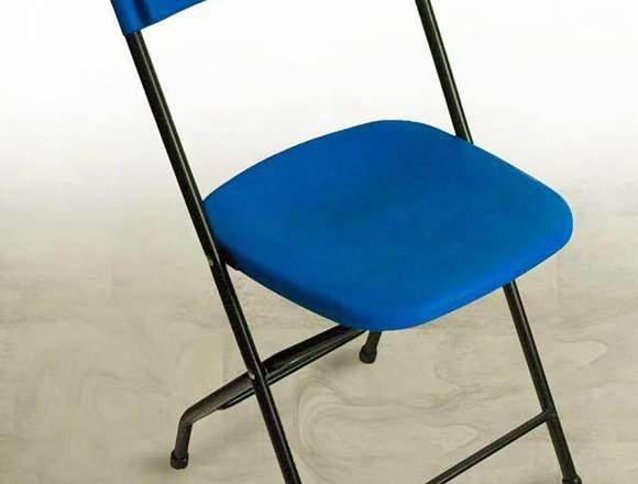 sillas plegables de plastico azul