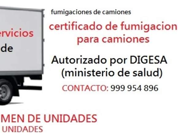 certificado de fumigacion, fumigacion de camion