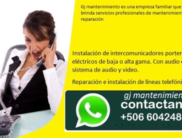 instalación y mantenimiento de intercomunicadores