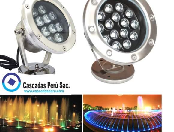 luces LED sumergibles para piscinas, estanques