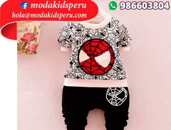 Ropa spider man s/80 www.facebook.com/modakidsperu