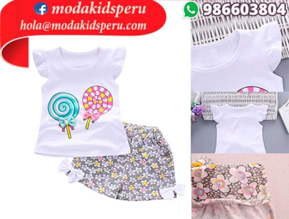 s/.45 conjunto de ropa para niñas 02 piezas LIMA
