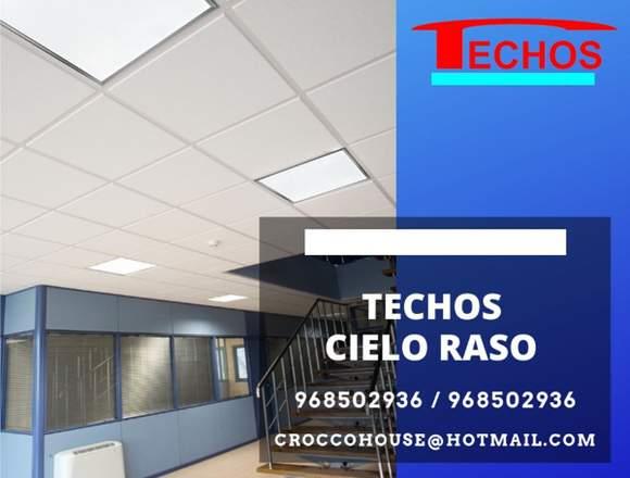 BALDOSAS CIELO RASO MATERIAL / INSTALACION