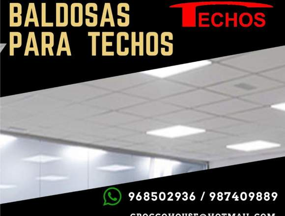TECHOS BALDOSAS / INSTALACION