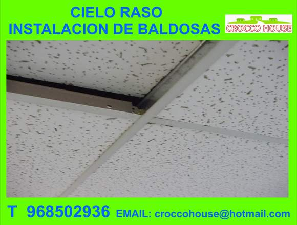 CIELO RASO INSTALACION DE BALDOSAS 968502936