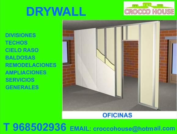 DRYWALL DIVISIONES TECHOS 968502936