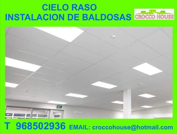 CIELO RASO INSTALACION DE BALDOSAS