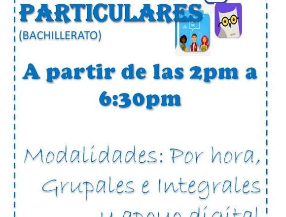 TAREAS DIRIGIDAS Y CLASES PARTICULARES
