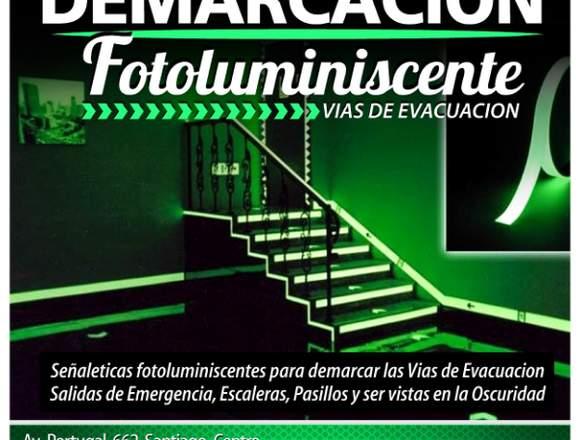 Señaleticas Fotoluminiscentes vías de evacuación