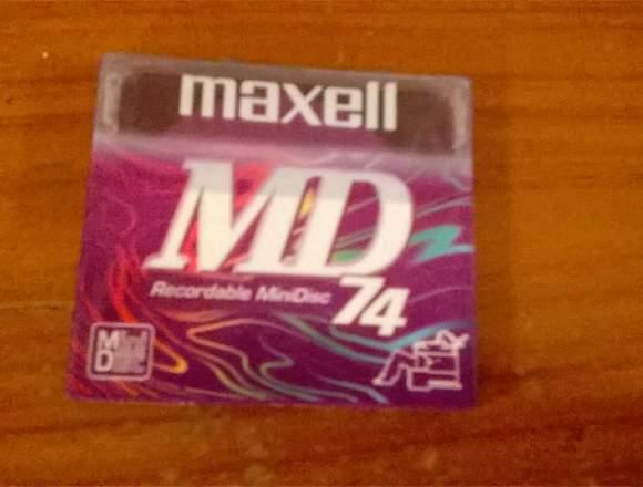 Maxell Minidisc Modelo: Md-74pr - Morado