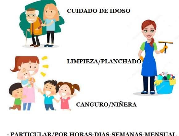 LIMPIEZA HOGAR/NIÑERA/CUIDADORA A MAYORES