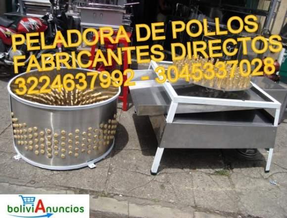 PELADORA DE POLLOS MARCA WORKS STEEL DASF