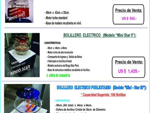 Bolilleros Electricos para sorteo y loteria