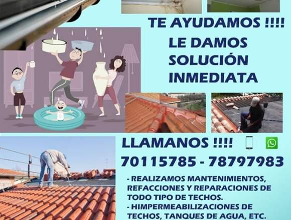 REFACCIÓN DE TECHOS !!!! cel.. 70115785