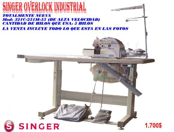 SINGER OVERLOCK 321C-251M-55 DE ALTA VELOCIDAD