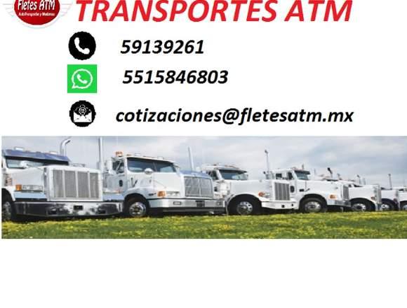 FLETES ATM TRANSPORTES LOCALES Y FORANEOS