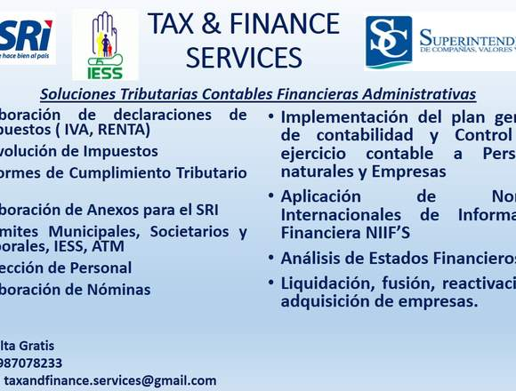 TAX & FINANCE SERVICES