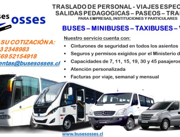 Buses Osses, traslado de Santiago a regiones