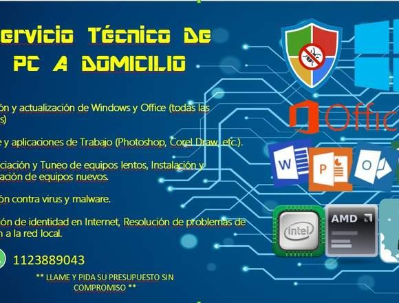 MANTENIMIENTO/REP. COMPUTADORAS A DOMICILIO