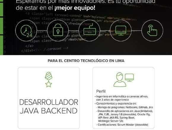 Desarrollador Backend Java