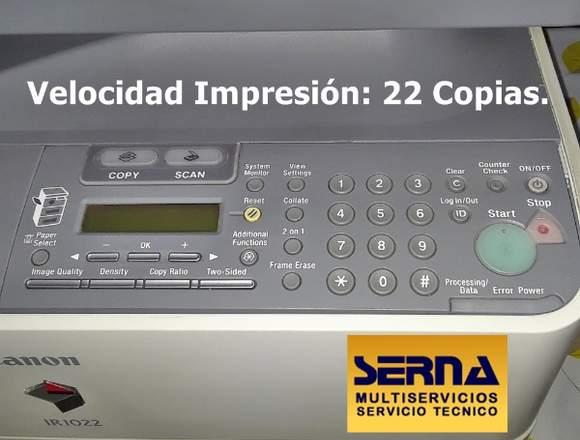VENTA FOTOCOPIADORA SEMINUEVA CANON IR-1022!!