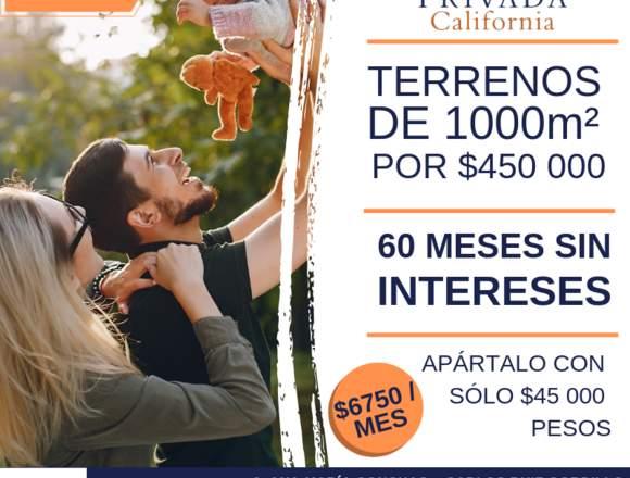 TERRENOS EN PREVENTA DESDE $7200 / MES 🏠